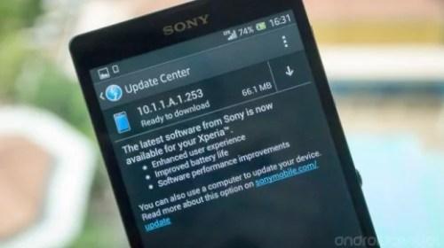 Sony Xperia ZL: Roll Out V 10.1.1.A.1.253 tramite OTA