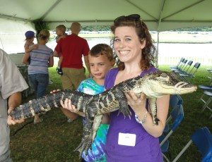 I always wanted to hold an alligator