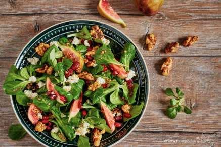 Wintersalat mit Senfvinaigrette und Feigen