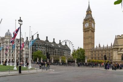 Big Ben und London Eye - die zwei Sehenswürdigkeiten Londons
