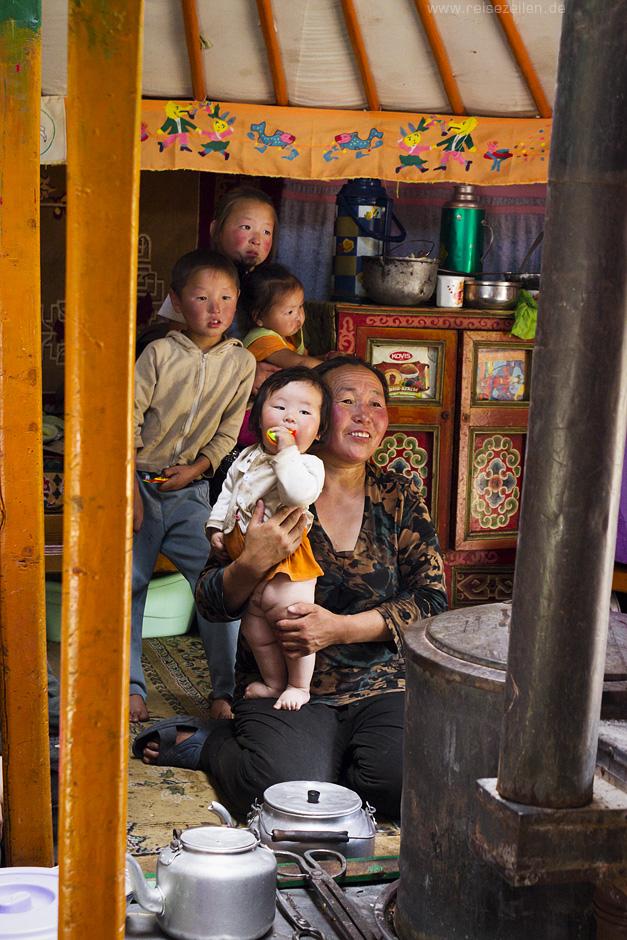 Nomadenfamilie_Mongolei