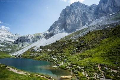 Schweiz Graubünden Prättigauer Höhenweg Prättigau Partnunsee
