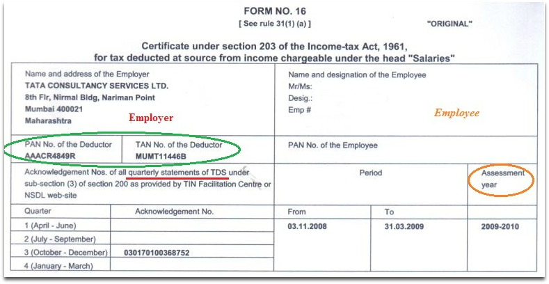 Understanding Form 16, Form 16A \ Form 26AS (Tax filing) - income certificate form