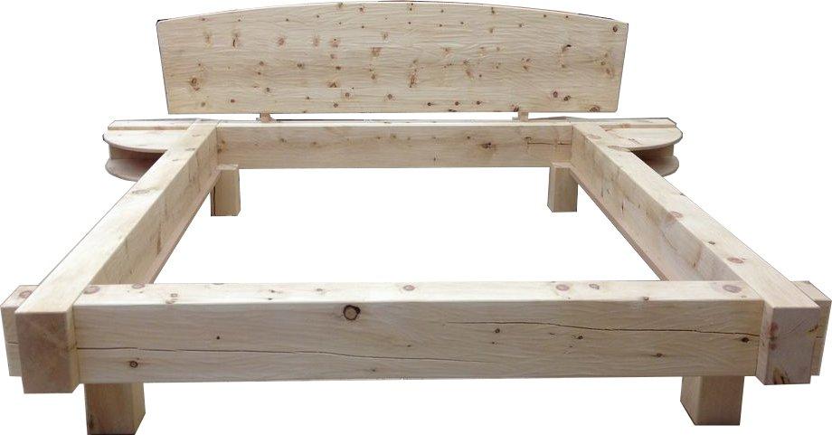 Balkenbett-Zirbenholzjpg (920×481) Zirbenbett Pinterest - zirbenholz schlafzimmer modern