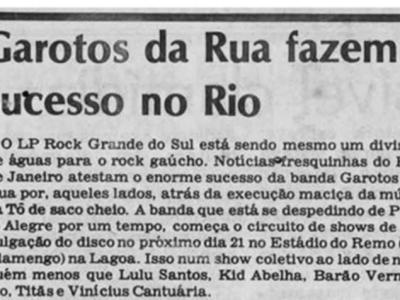 [PRESS] Os Garotos da Rua fazem sucesso no Rio de Janeiro