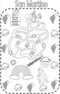 San Martino labirinto da colorare - San Martino da ...