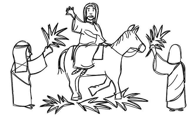 domenica delle palme disegno da colorare