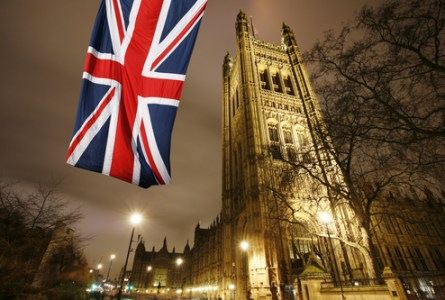 London Victoria Tower stands at the House of Lords end of the Palace of Westminster.