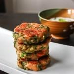 Broccoli Cheese Fritters Eggless with yogurt dip