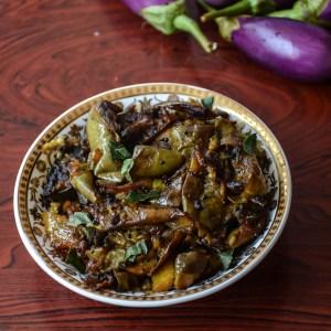 Quick Spicy Brinjal Fry/ Kathirikkai Varuval