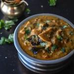 Mushrooms in peanut sesame gravy / Mushroom Salan