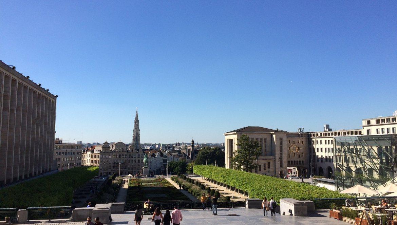 View from Jardin du Mont des Arts