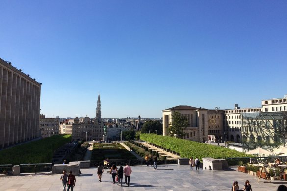 View from Jardin du Mont des Arts