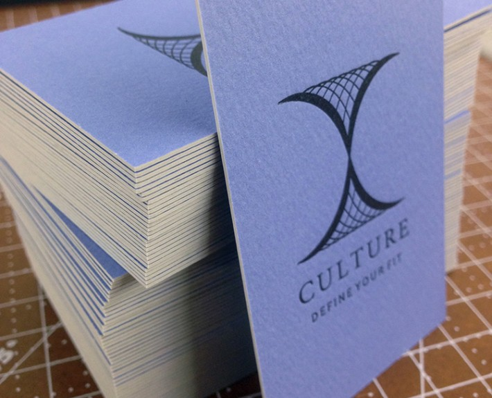 Culture Ultra Thick Letterpress Business Cards - letterpress business card