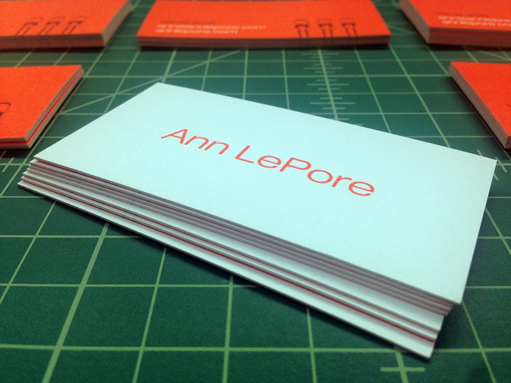 Ultra Thick Business Cards for Ann LePore Remco Press