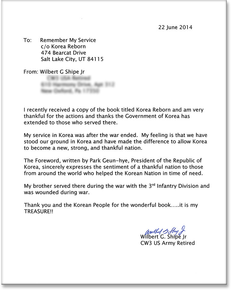 Thank You Letter To Veteran Example | Dvr Sample Resume