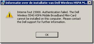 Dell Wireless HSPA Mini Card Driver