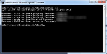 Lync Password Dumper