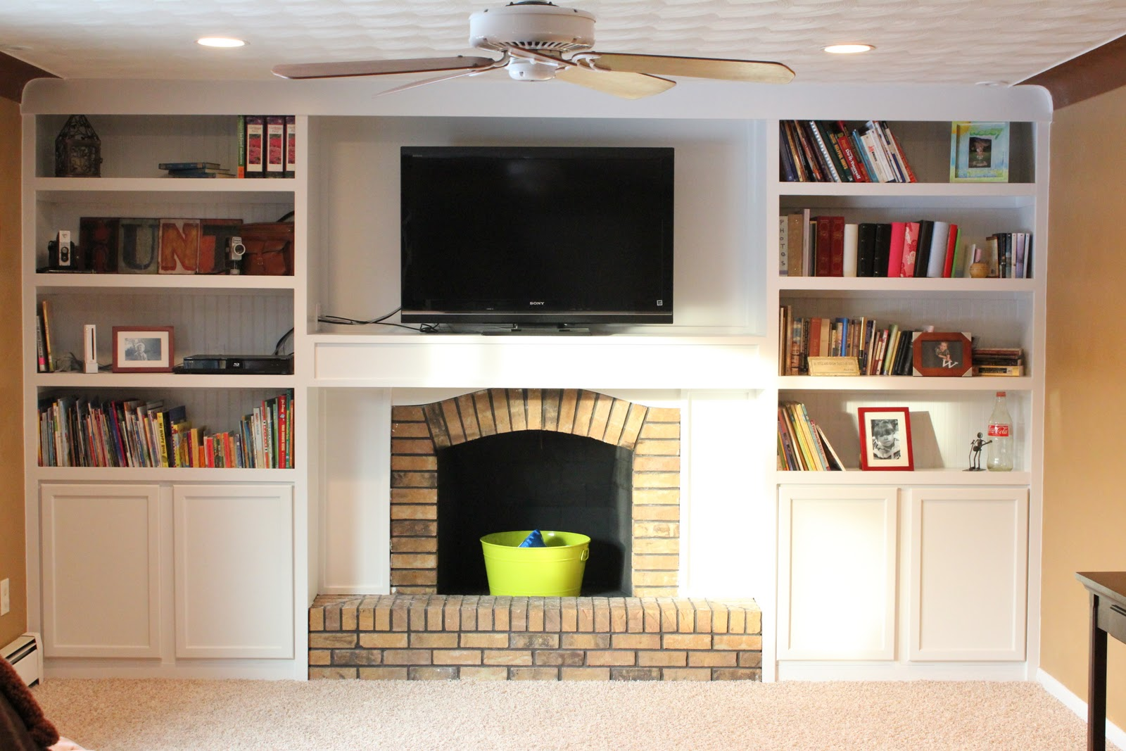 Hilarious Floating Shelves Around A Fireplace Fireplace Built Ins Cabinets Built Doors Fireplace Built Ins houzz-02 Fireplace Built Ins