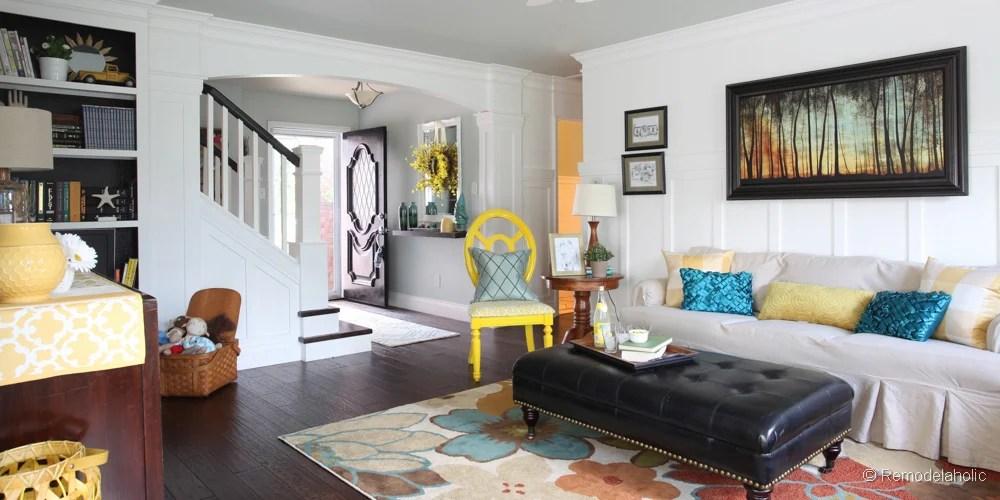 Remodelaholic Living Room Reveal (Finally!) - living room remodel