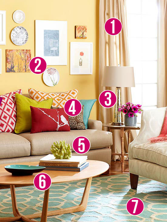 Get This Look Color Me Casual Living Room - casual living rooms
