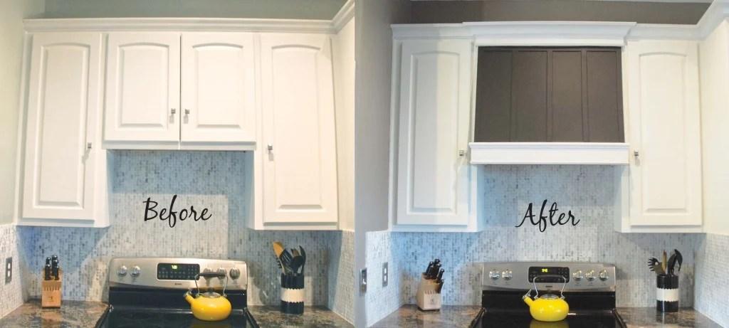 Remodelaholic How to DIY a Custom Range Hood for Under $50 - kitchen hood ideas