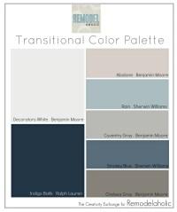 Remodelaholic | Transitional Paint Color Palette