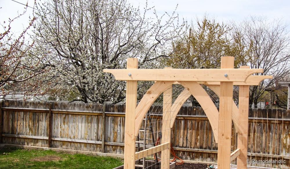Vegetable Garden Arbor DIY Plans - garden arbor plans designs