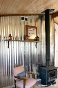 Remodelaholic | DIY Corrugated Tin Wall Tutorial