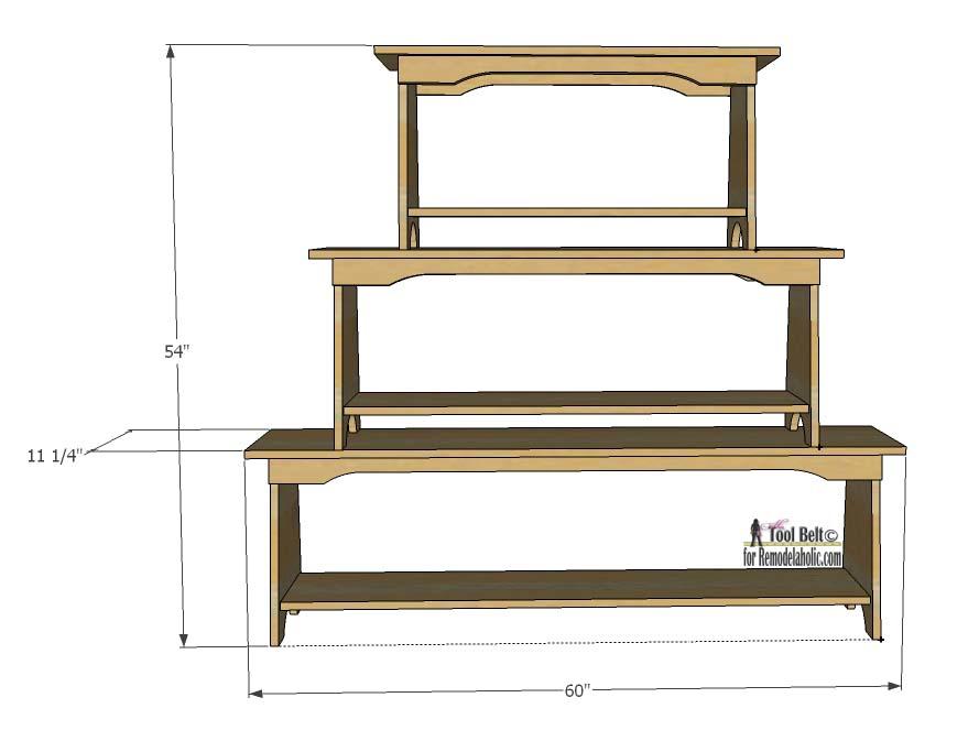 Remodelaholic Stacked Bench Bookshelf