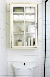 Remodelaholic | Bathroom Storage Cabinet using an old Window