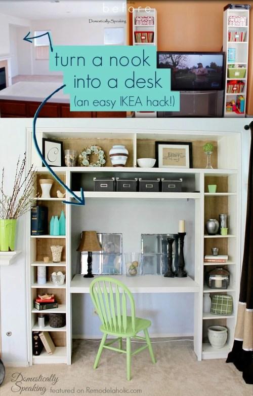 Medium Of Built In Desk