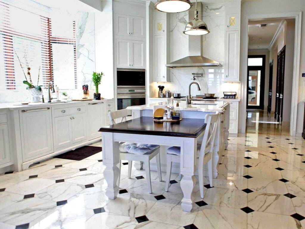 7 tips on choosing the right floor tile for every room kitchen tile floors