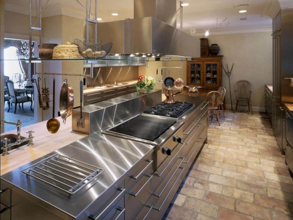 industrial style kitchen remodel cost metal kitchen cabinets Stainless Steel Countertops