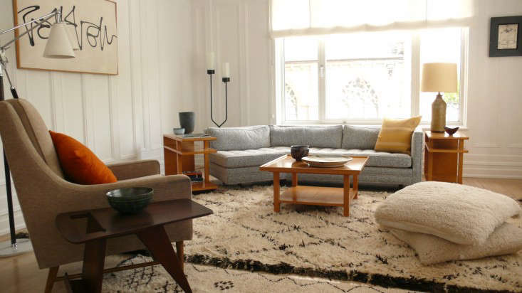 Finding the Right Living Room Mix - Remodelista - living room shag rug