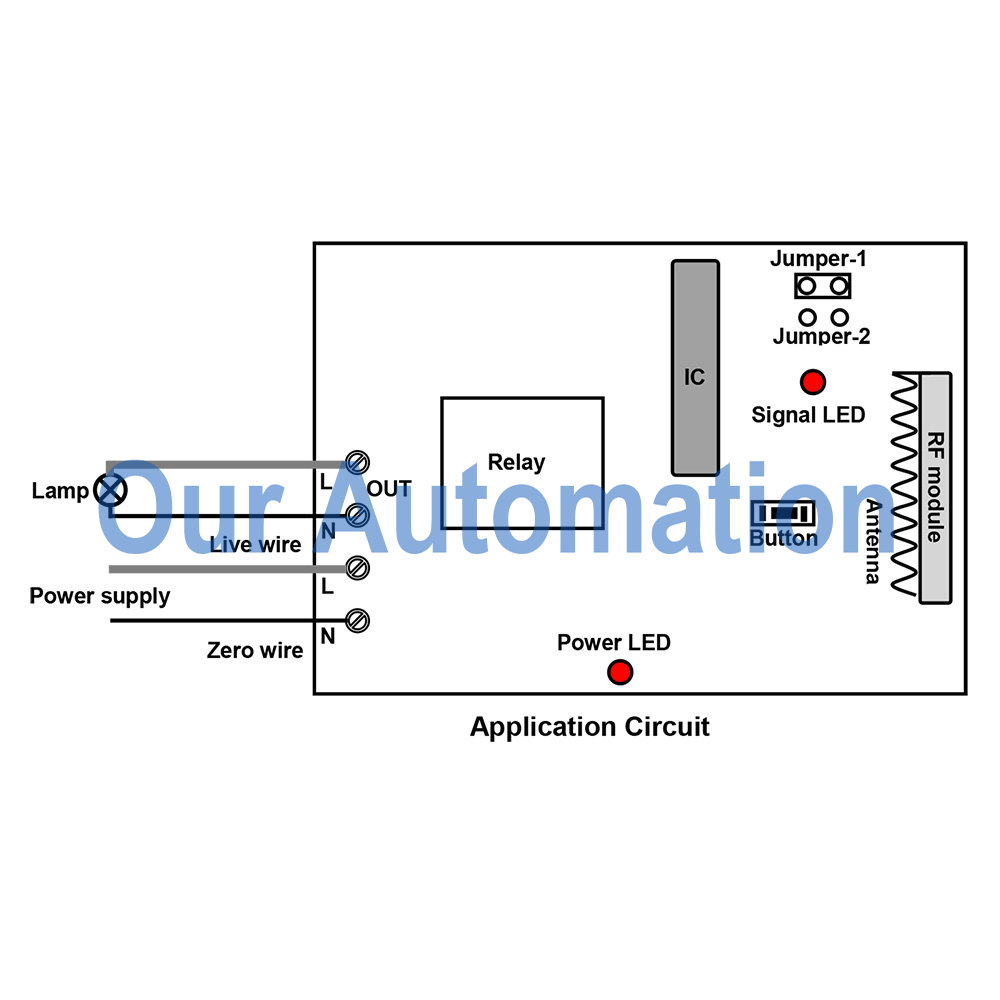 wireless wallmounted switch and receiver our automation
