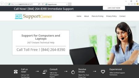 Supportcorner.co pop-up