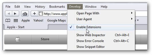 Safari Enable Extensions 3