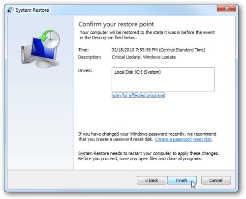 restore2 Uninstall Szymekk Ransomware from Windows 7