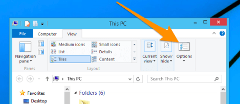 win 8 unhide folders