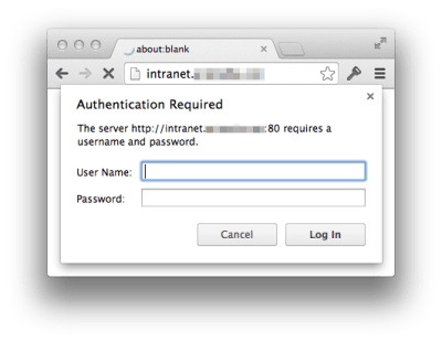 """delete """"Authentication Required"""" pop-ups"""