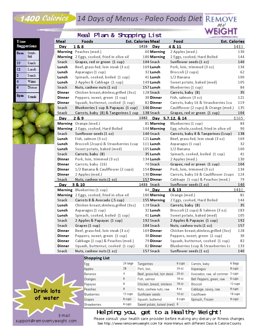 Printable 1800 Calorie Diet Plans Pictures to Pin on ...