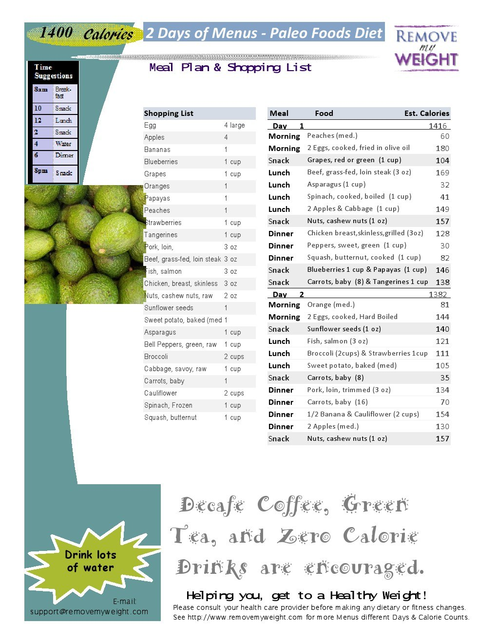 image about 1400 Calorie Meal Plan Printable known as Eating plan menu 1400 energy