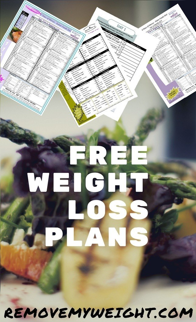 Free Weight Loss Menu Plans for you