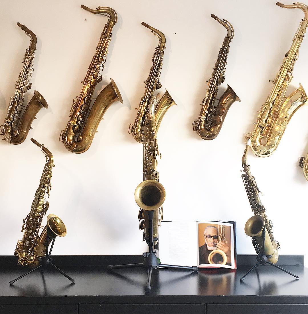 Saxophone wall