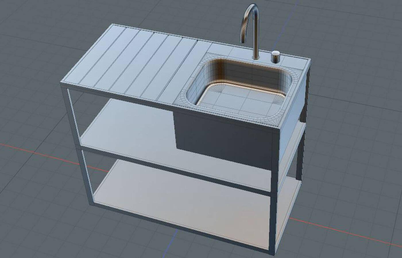 Garden Kitchen Sink 3d Model