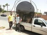En zo vervoeren we dit in Jordanië