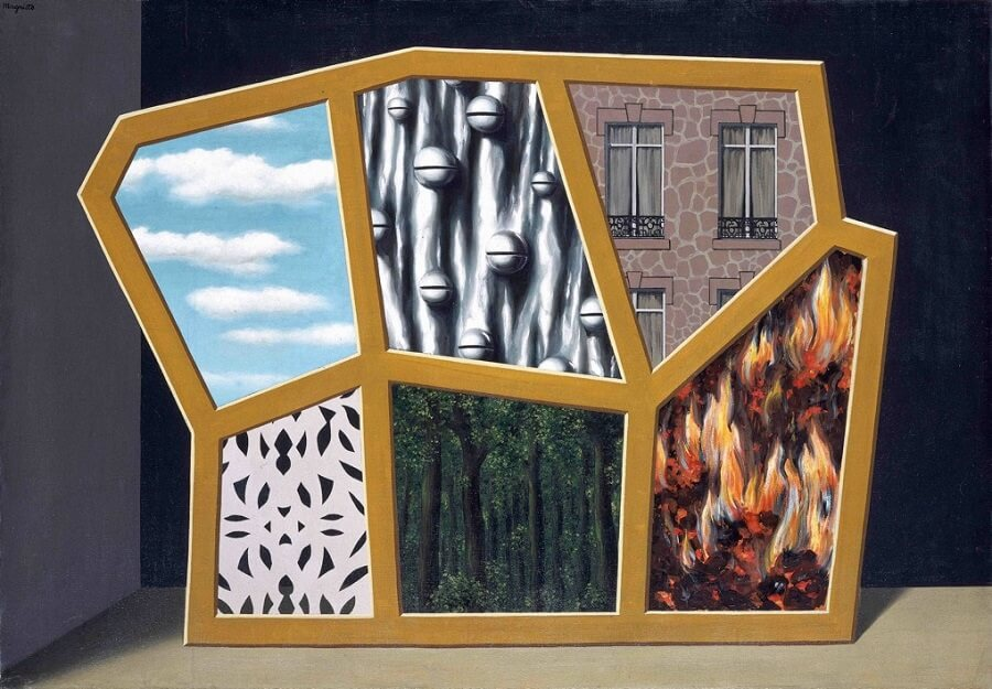 Famous Book Quotes Wallpaper Empty Mask 1928 By Rene Magritte