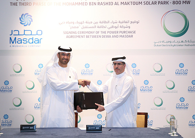 DEWA signs power purchase agreement with Masdar - Renewable Technology