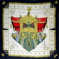 Scarves Hermes Silk & Cashmere Scarf Hermes Vintage Silk Scarf
